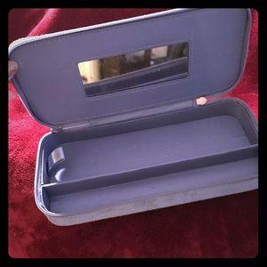 Suede travel jewelry box